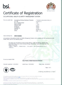 OHS18001 Certification